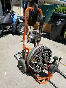 Speedrooter 92 Drain sewer Cleaning Machine W 100 x3 4 Cable Cutters