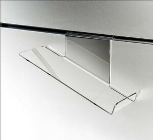 Store Display Fixtures New Acrylic Deluxe Slatwall Shoe Shelf Heel righ Slant