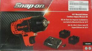 New Snap On18v Monstercordless Impact Wrench3 8 Ct8810bk2w 2 Batteries Charger