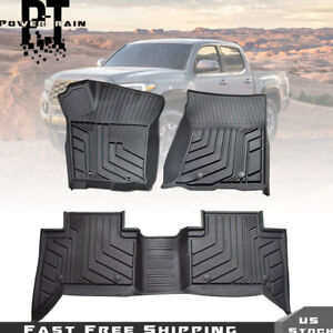 Protection Floor Mats Liners For 2018 19 2020 Toyota Tacoma Crew Cab All Weather