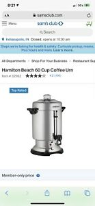 New Hamilton Beach 60 Cup Stainless Steel Commercial Coffee Maker Urn D50065c