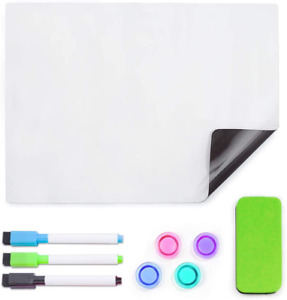 Vistech Office A4 Dry Erase Board Sheet 12 X 9 Inches Fridge Magnetic Soft Whit