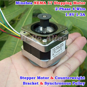 Nmb Minebea 0 9 Degree Nema17 2 phase 4 wire Stepper Motor Pulley 3d Printer Cnc
