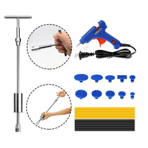 Slide Hammer Dent Puller Car Body Paintless Dent Repair Tool Kit Glue Puller Tab