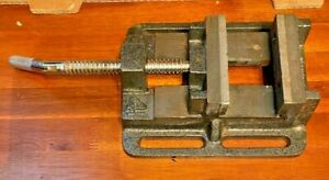Vintage Omega Machinist Vise Drill Press Machine 4 Jaw Heavy Well Made Flat