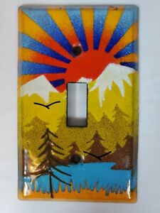 Vintage Enamel Switch Plate Cover Single Toggle