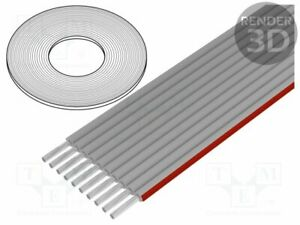 Lines Ribbon Cable 0 1 16in Cu Line Shielded 10x28awg Pvc Flc 10 30 e Flachb