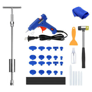 Car Dent Paintless Repair Tools Kit Hail Damage Removal 2 In 1 Slide Hammer