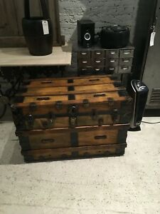 Antique American Steamer Trunk Circa 1900