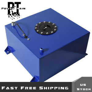 Coated Aluminum Racing drifting Fuel Cell Gas Tank level Sender 10 Gallon Blue