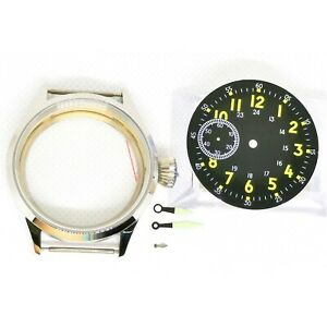 44mm Watch Case Parts Dial And Hands For Eta6497 St36 Manual Movement