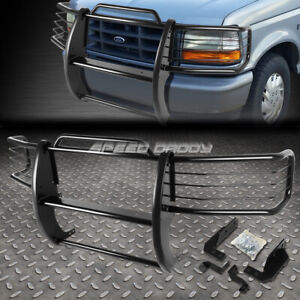 For 92 96 Ford F150 F350 Pickup Black Coated Mild Steel Front Grill Frame Guard