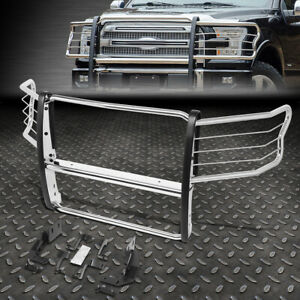 For 15 19 Ford F150 Stainless Steel Front Bumper Brush Grill Grille Guard Frame