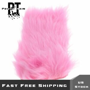 Car Center Console Armrest Cushion Trim Pad Cover Pink Furry Universal Fit
