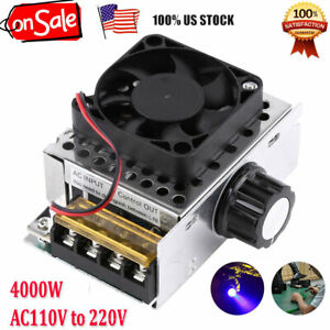 4000w Scr Voltage Regulator Dimmer Motor Speed Control W fan Ac110v To 220v