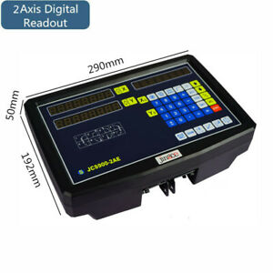 2 Axis Digital Readout Linear Scale Dro Display Cnc Milling Lathe Encoder Us