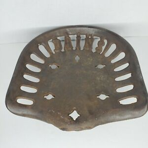 Antique Cast Iron Dains Tractor implement Seat Guaranteed Original