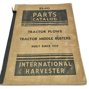 1942 Vintage Ih International Harvester 85 po Tractor Plows Parts Catalog Ih57