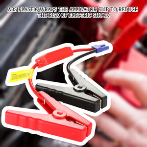 12vcar Jump Starter Connector Emergency Lead Cable Battery Alligator Clamp Clip