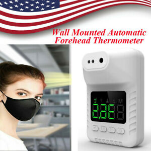 Digital Automatic Wall mount Non contact Forehead Thermometer Infrared Adult Us