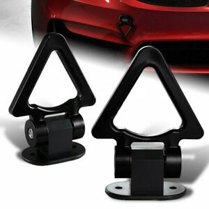 Car Black Triangle Track Racing Style Tow Hook Look Decor W Wrench Universal