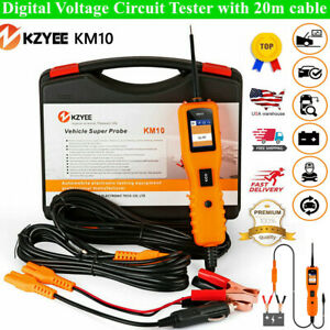 Km10 12v 24v Circuit Tester Power Probe Automotive Electrical Continuity Relay