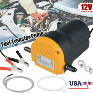 Car 12v 60w Oil Diesel Fuel Extractor Siphon Suction Pump Transfer Fluid Change