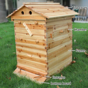 7pcs Auto Beekeeping House Box Us Upgraded Super Beehive Brood Box Bee House