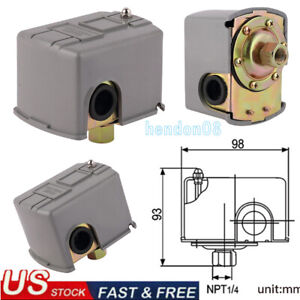 20 40 Psi Well Water Pump Pressure Control Switch Adjustable Double Spring Pole