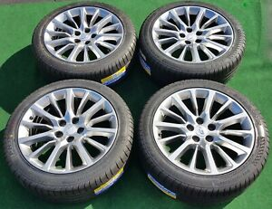Factory Cadillac Ct6 Wheels Tires Set 4 Rt9 2020 Gm Oem Hypersilver 19 Inch 4762