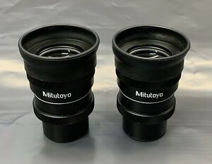 A Pair Of Mitutoyo Wf 10x 24 Microscope Eyepieces 30mm Wide Focus