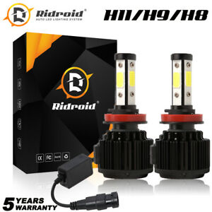 4 Side H11 Fog Light H8 H9 Led Headlight High Low Beam Bulbs 6000k White Canbus