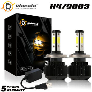 4 Side H4 9003 Led Headlight High Low Beam Conversion Kit Canbus 6000k Hid White