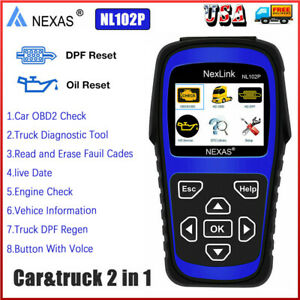 Heavy Duty Truck Diagnostic Scanner Dpf Regeneration Oil Reset Nexas Nl102 Plus