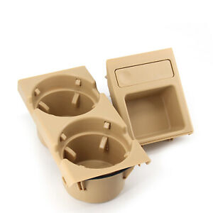 Beige Center Console Cup Holder W Coin For Bmw E46 3 Series 1998 2005