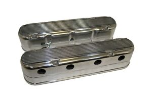 Chevy Ls1 Ls6 Polished Aluminum 2pc Finned Valve Covers Ls2 Ls7 Ls3 Lsx 6 0