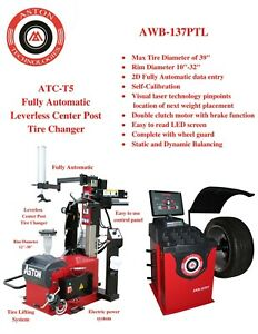4 0hp Tire Changer Wheel Changers Machine Balancer Laser Rim Clamp Combo 30