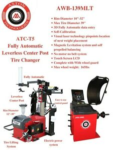4 0hp Tire Changer Wheel Changer Machine Balancer Combo Magnetic Levitation 30