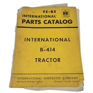 1965 Vintage International Harvester Tc 85 B 414 Tractor Parts Catalog Ih76