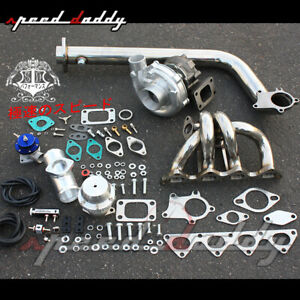 T3 T04e B Series Eg Db Dc Turbo Charger Racing Stainless Manifold Downpipe Kit