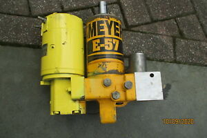 Meyer E 57 Snow Plow Pump Hydraulic Lift Unit Tested Great Condition E57