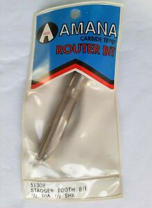 Amana Router Bit Tool Carbide Tip Stagger Tooth Plunge 1 2 Dia X 2 X 1 2 Shank