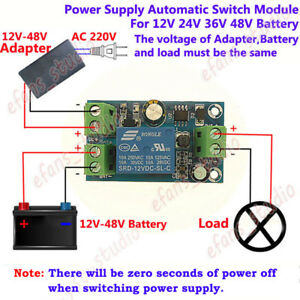 Dc 12v 48v Power Off Automatic Switch Battery Ups Power Supply Module Controller
