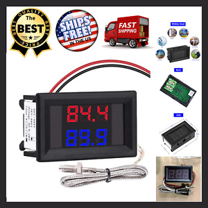Dual Digital Fahrenheit Led Display Thermometer K Type Thermocouple High Quality