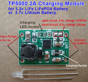 Tp5000 2a 3 7v Lithium Lipo 3 2v Lifepo4 Battery Charger Module Charging Board
