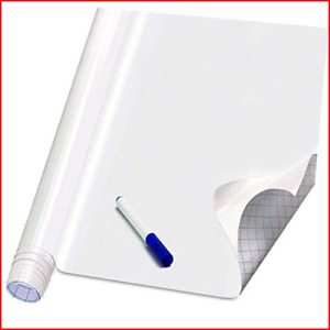 Self Adhesive White Board Paper Dry Erase Wall Stickers Roll 17 7 X 78 7 For