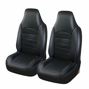 Pu Leather Front Car Seat Covers Fashion Style High Back Bucket Car Seat Cover