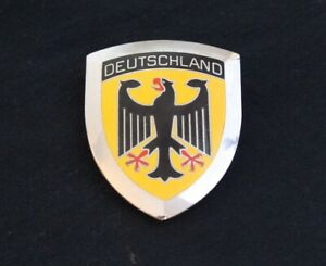 Vintage Deutschland Grille Badge License Plate Topper Accessory Fits Bmw Audi