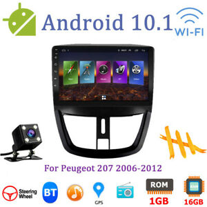 Android 10 1 Car Gps Multimedia Am fm Radio Navi Player For Peugeot 207 06 12
