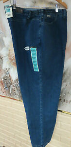 NWT WOMENS LEE 30WP PEPPER STONE AT THE WAIST SIDE ELASTIC STRETCH BLUE JEANS $26.39